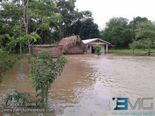Flooding in San Miguel village