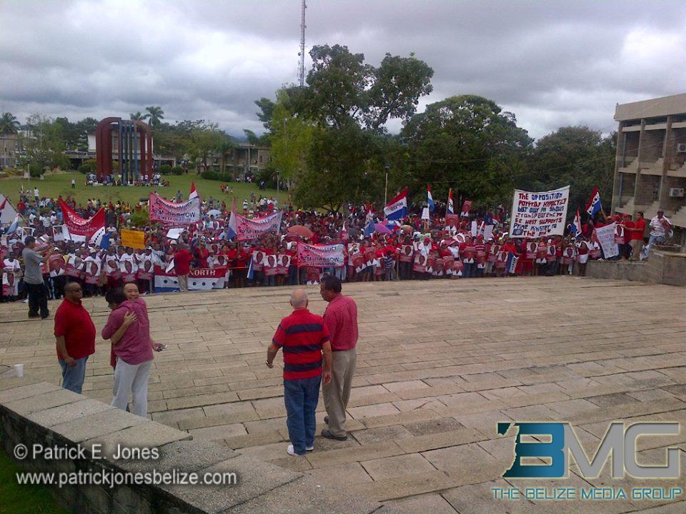 UDP supporters, Belmopan