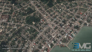 Corozal town (Photo courtesy Google Earth)