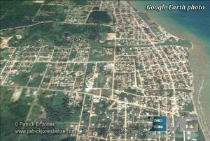 Dangriga town (Google Earth photo)