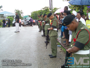 Soldiers pay tribute to Paul Nabor.