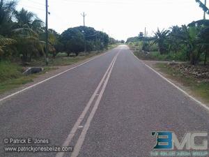 Rehabilitated feeder road in Corozal