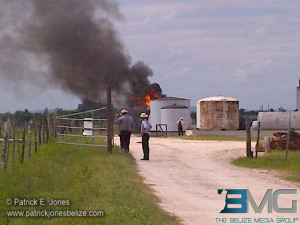 Fuel container fire, Shipyard