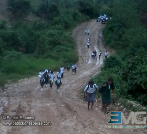 Students on the way to classes