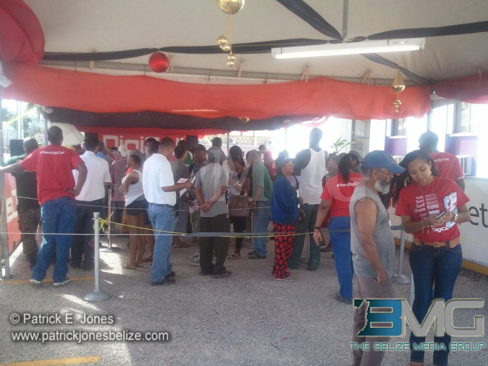Customers at BTL promotion