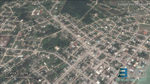 Corozal town (Courtesy Google Earth)