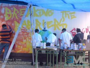 HIV mural in Orange Walk