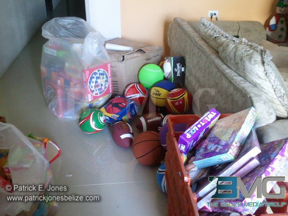 Christmas toys for Corozal children