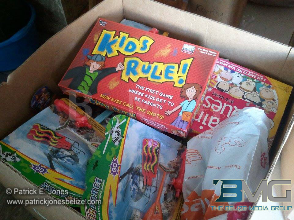Toys for Corozal children