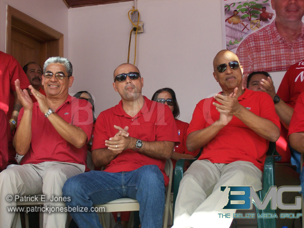 Gaspar Vega, Omar Figueroa and PM Barrow