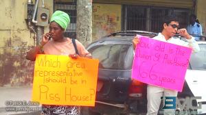 Yaya Marin protest