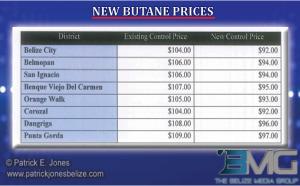 Lower butane prices