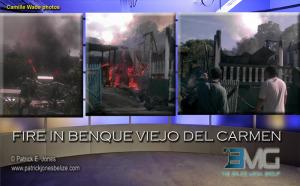 Fire in Benque Viejo del Carmen