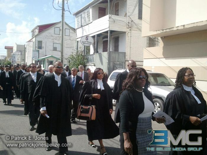 Judiciary on parade