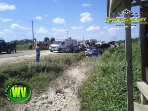 Traffic accident, St. Matthew's village