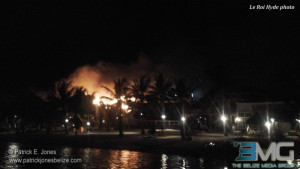 Fire at Exotic Caye Resort