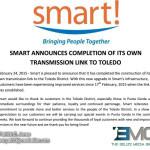 Smart establishes its own transmission link in the Toledo district