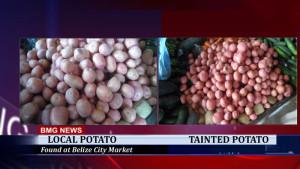 Tainted potato