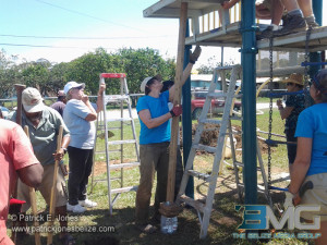 Rotary Club members help out