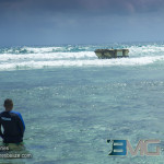 Submersible vessel stuck on the Belize Barrier causing major damage