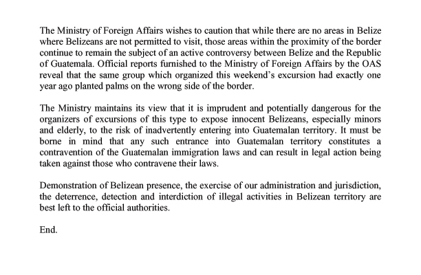 Government statement