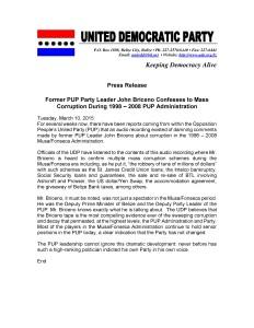 UDP Press Release