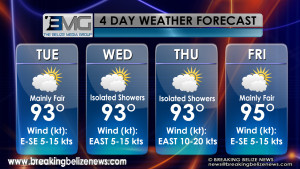 Weather Monday May 4th, 2015