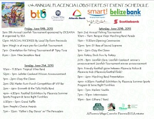Lobster Fest Event Schedule