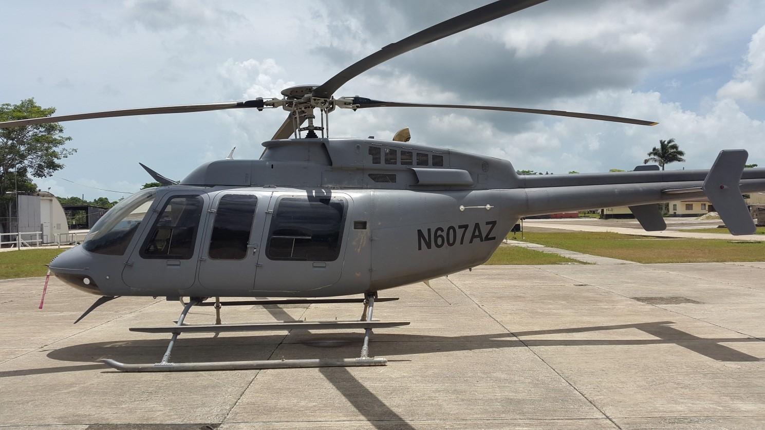 Elicottero Grigio : Authorities in orange walk find abandoned helicopter