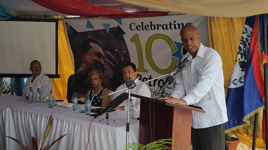 PM speaking at PetroCaribe ceremony