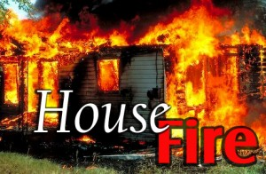 house fire banner