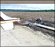 burnt plane