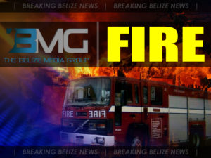 House destroyed by fire in Benque