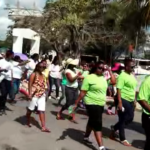 Teachers rally in Belize City