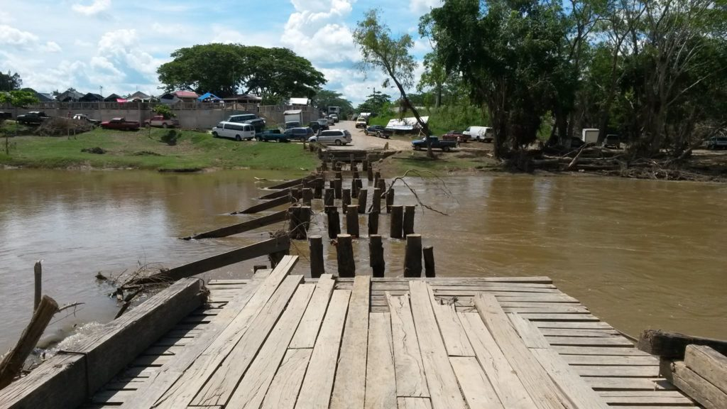 wooden bridge san ignacio