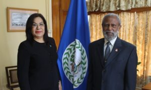 Ambassador of Honduras presents credentials to Governor General of Belize