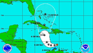 Matthew strengthens to a Category 5 Hurricane