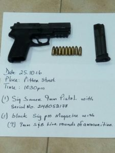 Police take another gun off the streets in Belize City