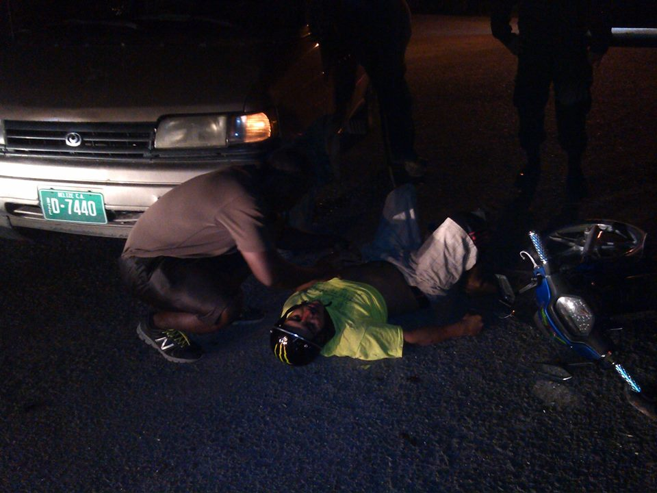 road-traffic-accident-in-ladyville-motorcycle-collides-into-a-taxi