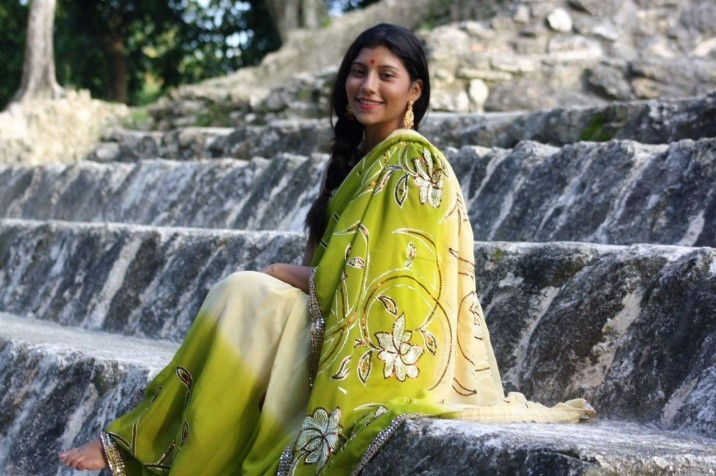 Miss Asia Gilharry represents Belize at the Miss Divali