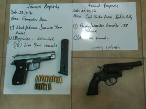 Police recover guns and drugs from Belize City