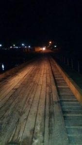 Low lying wooden bridge in San Ignacio completed and open to traffic