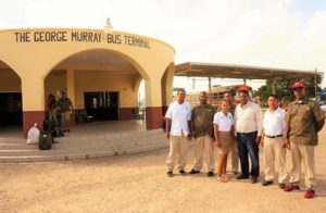 Transport Minister Assesses George Murray (Independence) Bus Terminal