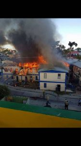 Fire in Belize City leaves 16 families homeless today
