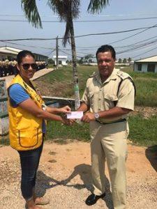 Belmopan's Lions Club donate to Police