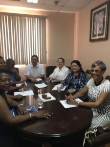 Officials of the International Atomic Energy Agency visit Belize