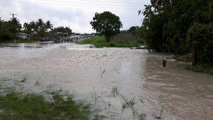 Intense lightening and heavy rainfall in San Ignacio due to freak storm