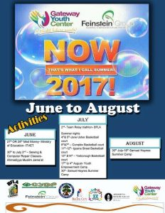 Gateway Youth Center summer camp 2017
