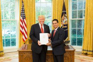 Belize Ambassador to US meets President Trump