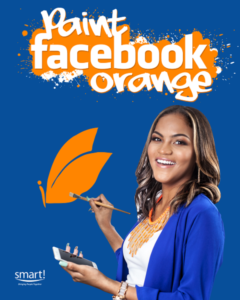 "Smart wants Belize to ""Paint Facebook Orange"""